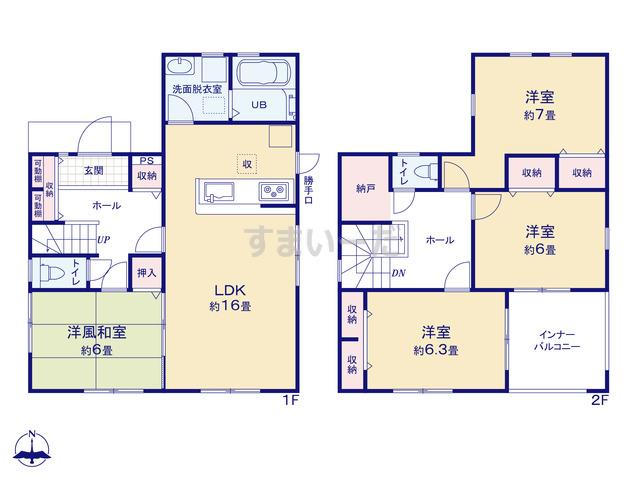 リーブルガーデン 東住吉区照ヶ丘矢田5期の見取り図