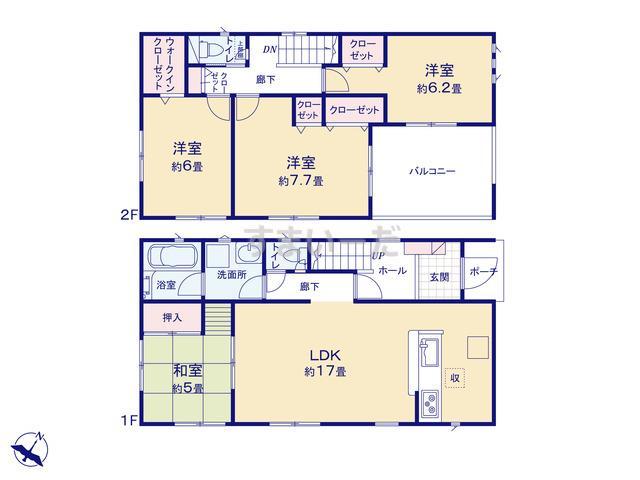 クレイドルガーデン 吉田町片岡 第2の見取り図