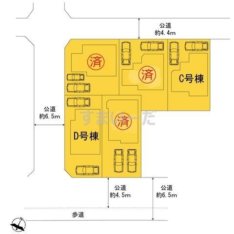 ハートフルタウン 横浜市緑区東本郷3丁目578番の見取り図