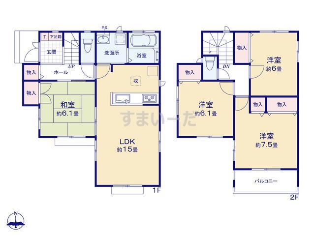 ハートフルタウン 富山市高屋敷2期の見取り図