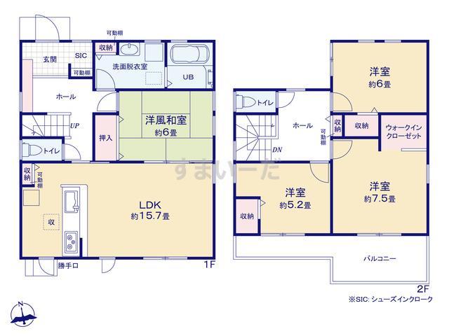 リーブルガーデン 西区舞阪町長十新田5期の見取り図