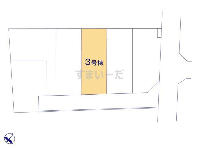 リーブルガーデン 三郷市高州3丁目4期の見取り図