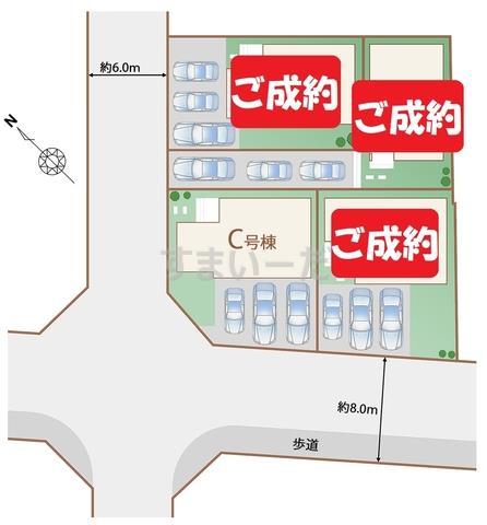 ハートフルタウン うるま市赤道の見取り図