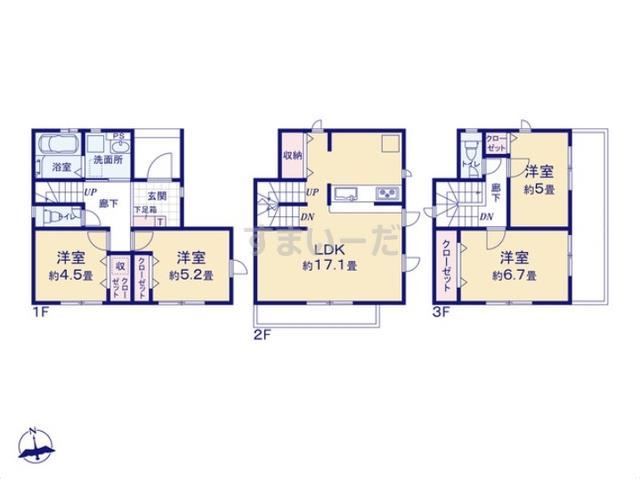 グラファーレ 春日井市西本町1棟の見取り図