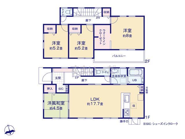 リーブルガーデン 南区倉松町3期の見取り図