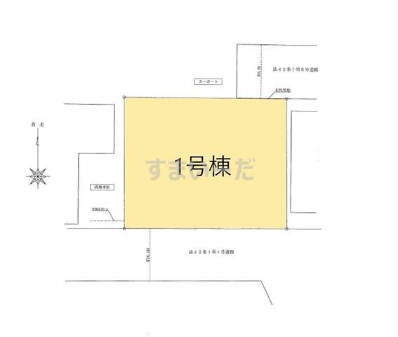 ハートフルタウン 足立区神明南5期の見取り図