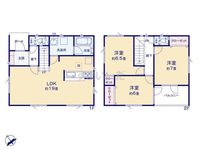 クレイドルガーデン 札幌市北区太平五条 第1の見取り図