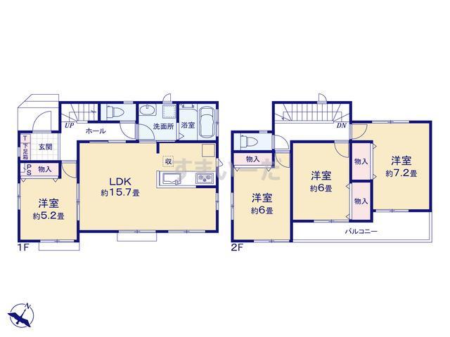 ハートフルタウン 千葉市花見川区作新台7丁目-IV期の見取り図