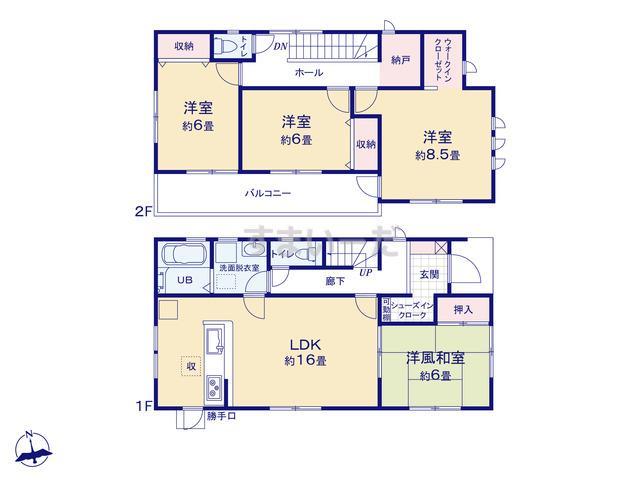 リーブルガーデン 第7渋川中郷の見取り図