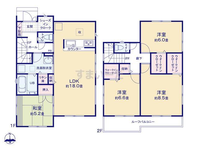 リナージュ 君津市西坂田20-2期の見取り図