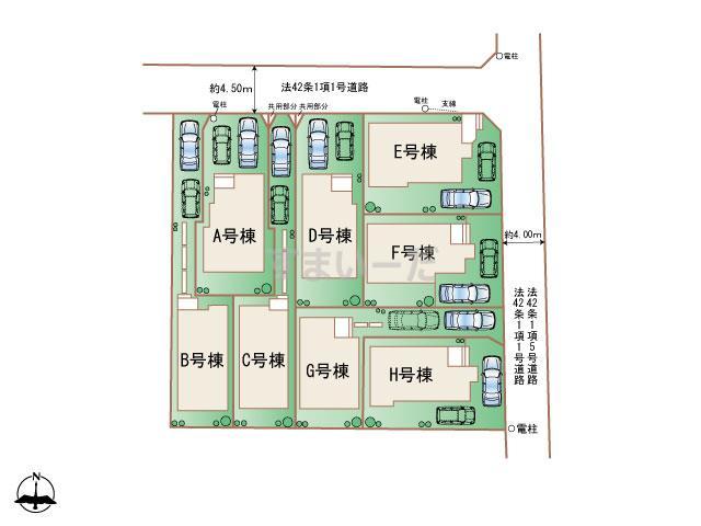 ハートフルタウン 東小金井の見取り図