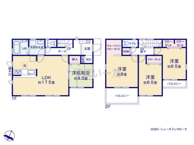 リーブルガーデン 桜井市桜井7期の見取り図