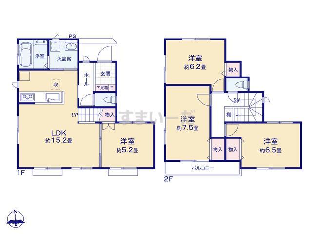 ハートフルタウン 八千代市大和田新田VIの見取り図