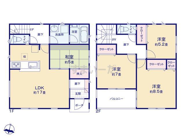 クレイドルガーデン 相模原市中央区陽光台 第32の見取り図