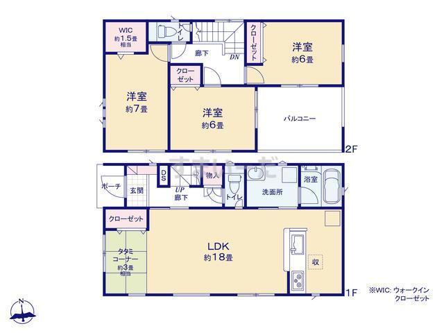 クレイドルガーデン 神戸市西区長畑町 第1の見取り図