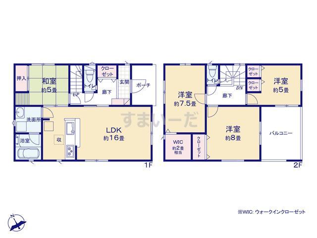 クレイドルガーデン 浜松市中区萩丘 第6の見取り図