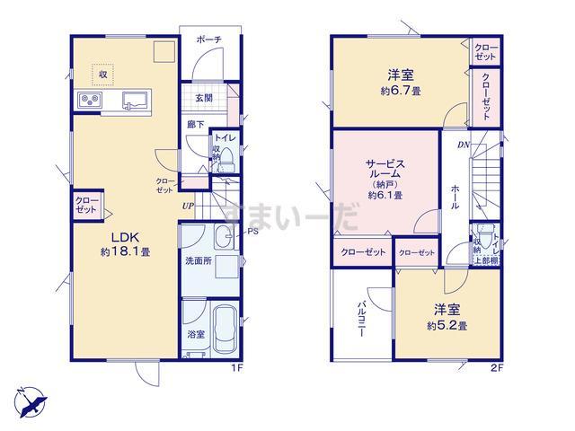 クレイドルガーデン 札幌市豊平区月寒東二条 第4の見取り図