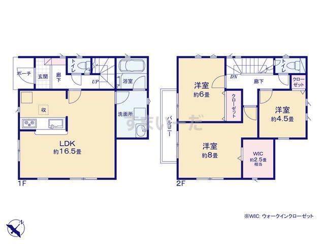 クレイドルガーデン 横浜市栄区公田町 第9の見取り図