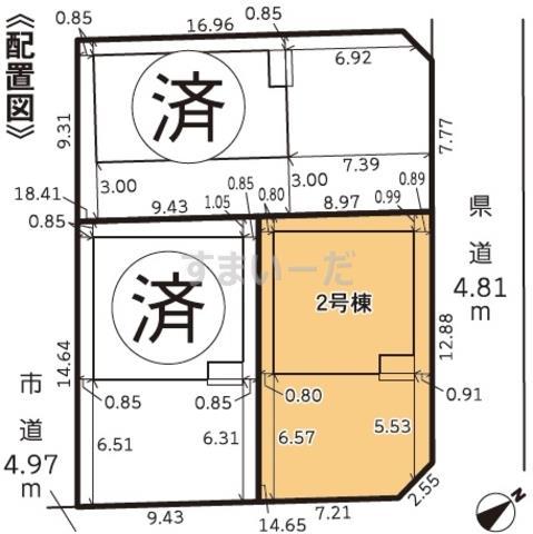 グラファーレ 浜松市笠井町2期3棟の見取り図