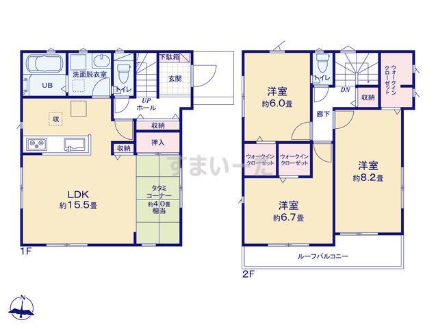 リナージュ 浜松市中区南浅田20-1期の見取り図