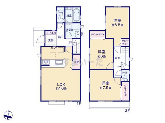 グラファーレ 横浜市釜利谷東3期3棟の見取り図
