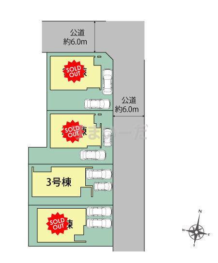 ブルーミングガーデン 札幌市東区北25条東9丁目4棟-長期優良住宅-の見取り図