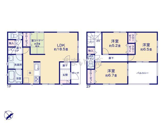 クレイドルガーデン 神戸市西区竜が岡 第5の見取り図
