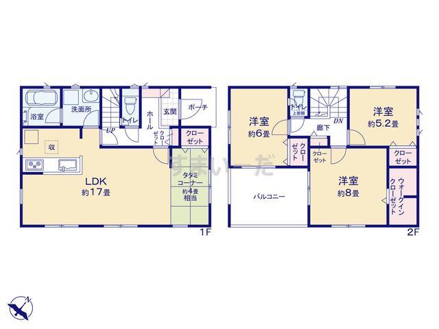 クレイドルガーデン 神戸市西区王塚台 第4の見取り図