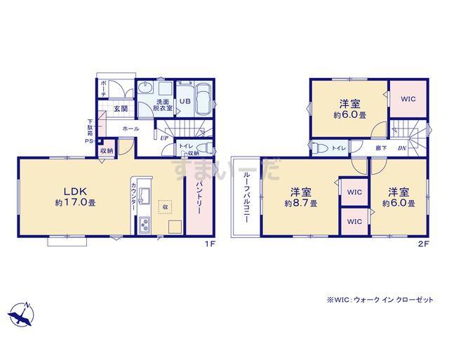 リナージュ さいたま市緑区三室18-4期の見取り図