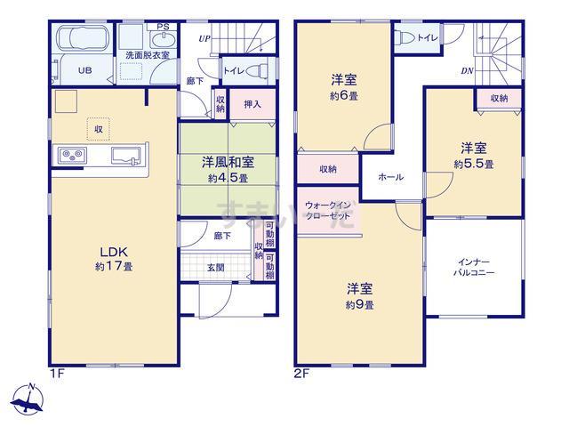 リーブルガーデン 北区太夫浜新町第2の見取り図