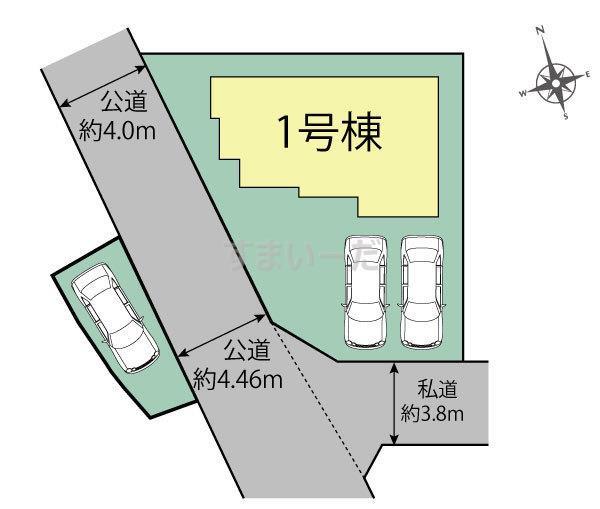ブルーミングガーデン 北九州市小倉南区徳吉東4丁目2期1棟-長期優良住宅-の見取り図