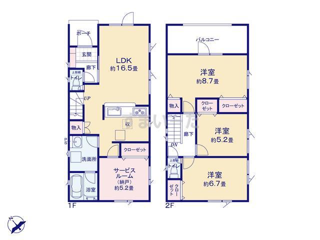 クレイドルガーデン 札幌市東区東苗穂三条 第1の見取り図