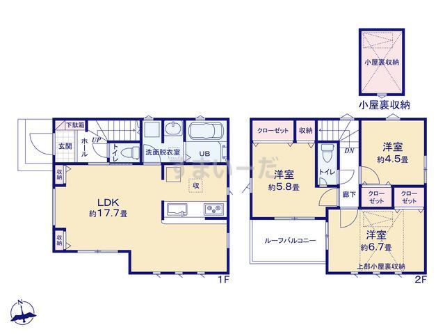 リナージュ 横浜市栄区上郷町20-1期の見取り図