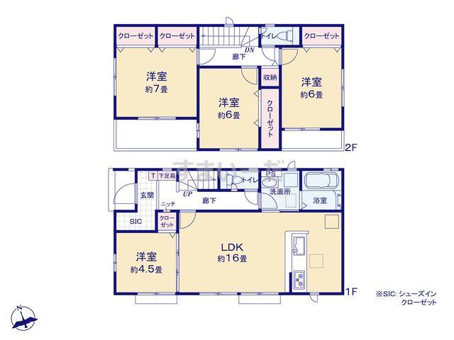 グラファーレ 横浜市和泉が丘4期2棟の見取り図