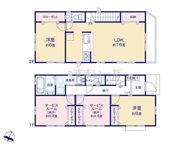 グラファーレ 横浜市青砥町2棟の見取り図