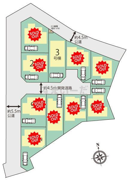 ブルーミングガーデン 横浜市緑区青砥町10棟の見取り図