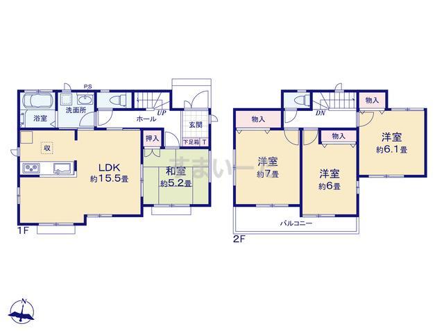 ハートフルタウン 横浜市栄区東上郷町905番141の見取り図