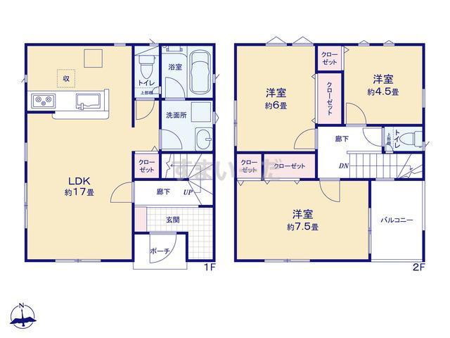 クレイドルガーデン 横浜市瀬谷区宮沢 第18の見取り図