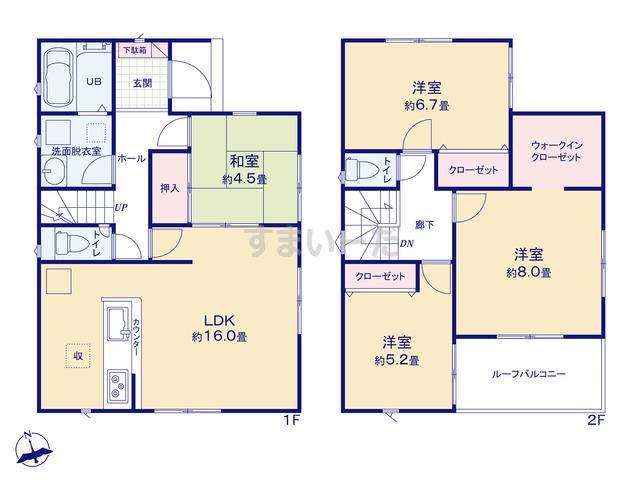 リナージュ 神戸市北区菖蒲が丘19-1期の見取り図