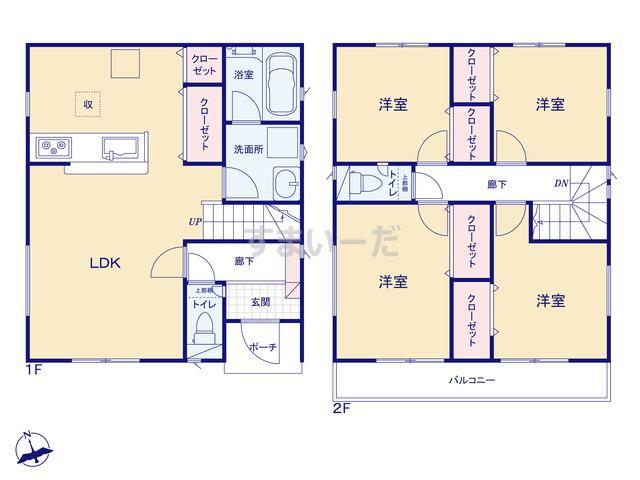 クレイドルガーデン 名古屋市中川区柳川町 第1の見取り図