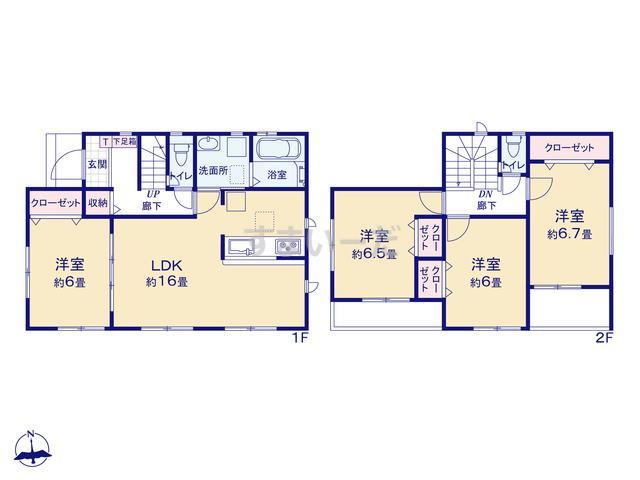 グラファーレ 名古屋市藤高2棟の見取り図