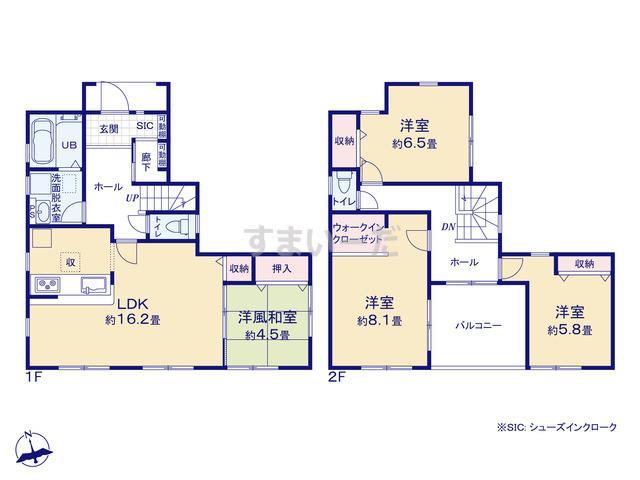 リーブルガーデン 金沢区釜利谷西5丁目第2の見取り図