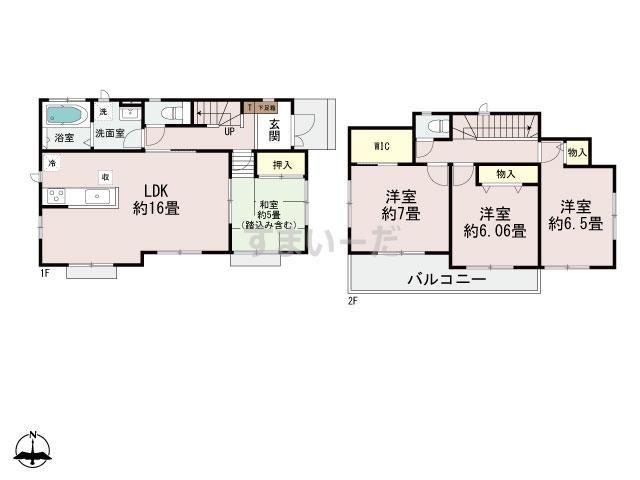 ハートフルタウン (神戸)神戸北若葉台の見取り図