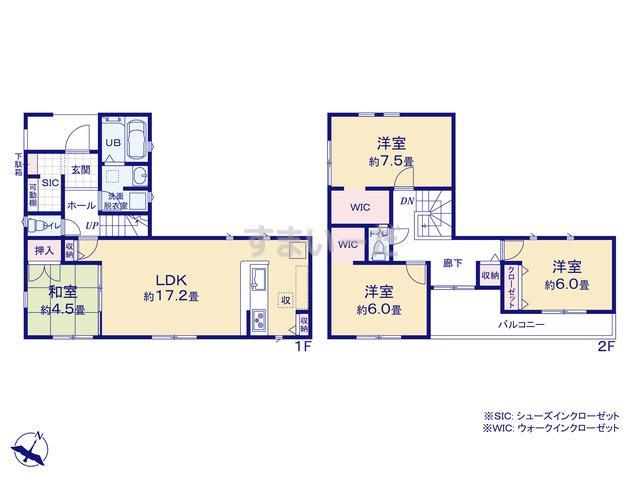リナージュ 横浜市神奈川区菅田町20-1期の見取り図
