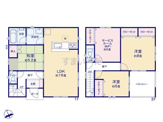 クレイドルガーデン 新潟市北区松浜新町 第5の見取り図