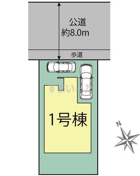 ブルーミングガーデン 札幌市東区本町1条2丁目1棟-長期優良住宅-の見取り図
