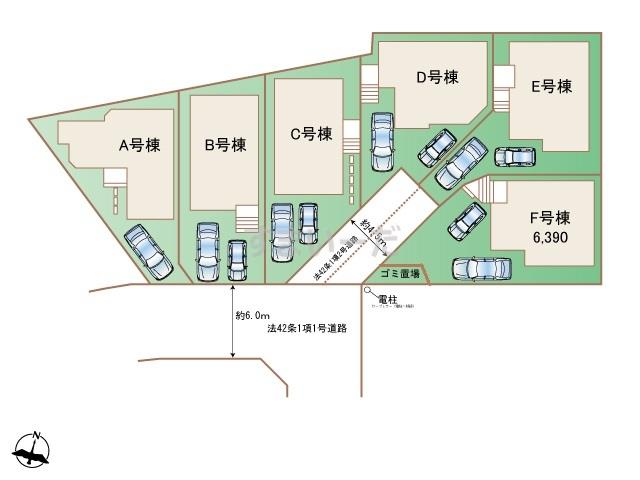 ハートフルタウン 川崎市宮前区犬蔵2丁目43番の見取り図