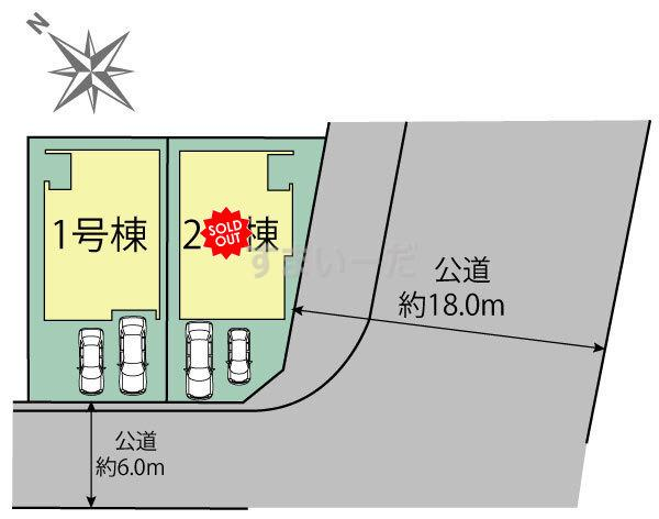 ブルーミングガーデン 札幌市手稲区富丘三条7丁目2棟-長期優良住宅-の見取り図