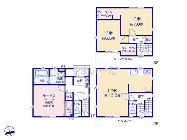 リナージュ 名古屋市緑区曽根20-1期の見取り図