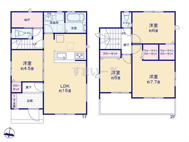 グラファーレ 名古屋市楠味鋺3棟の見取り図